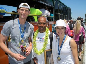Celebrating our Finishi with Meb - The Half Marathon Champion