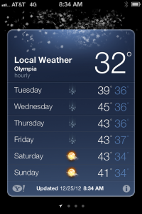 Totally running weather