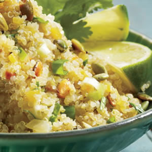 Quinoa beauty shot from fitness.com. (Mine didn't look this pretty.)