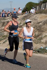 "Feeling ""the hurt"" during the last 10k of Surf City marathon in 2011."
