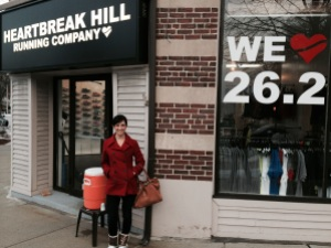 Visiting Heartbreak Hill Running Company over Christmas vacation in Bostno