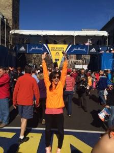The Boston Marathon finish line!