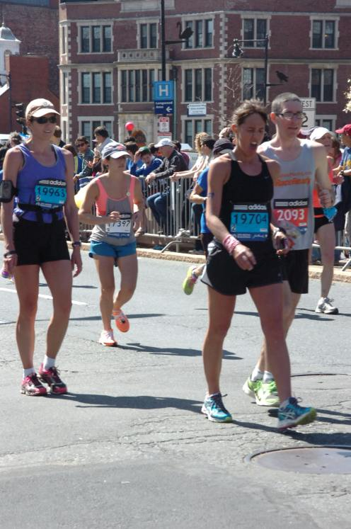 The many faces of  Boston Marathon, somewhere around mile 24-25 I imagine