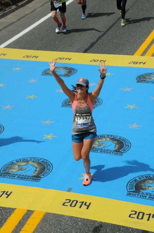 Woo I'm running the Boston Marathon!