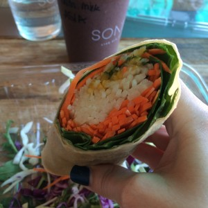 Raw coconut wrap