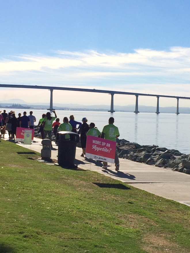 Finish with a view of the Coronado Bridge